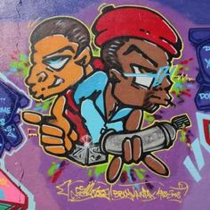 Graffiti Streetart Berlin   36W x 36H   Peel and Stick Wall Decal by Wallmonkeys - Sale Price: $49.99