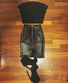 Crop top pencil skirt by agg