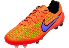 Nike Magista Opus FG Soccer Cleats - Orange...shipping right now at www.soccerpro.com