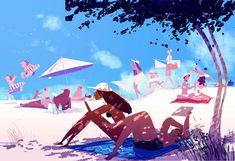 """Beach days"", #pascal campion: July 4, 2015"
