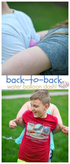 Back to Back Water Balloon Dash A Fun Summer Water Balloon Game to Play. Easy and Fun DIY Water Balloon Game to Play with the kids, youth and even adults. Such a Simple Relay Race to set up and fun summer game to play as a group! Perfect for youth groups Balloon Games For Kids, Water Balloon Games, Outdoor Water Games, Group Games For Kids, Youth Games, Water Games For Kids, Outdoor Games For Kids, Games For Teens, Abc Games