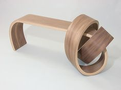 Why Knot Bench: Kino Guerin: Wood Bench - Artful Home