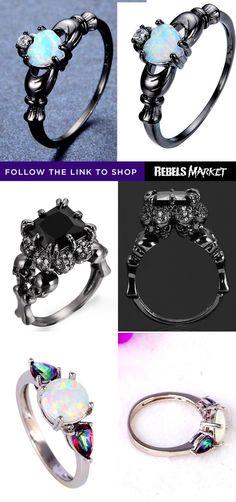 Shop alternative goth rings online at RebelsMarket.