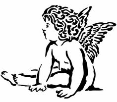 Pochoir Adhésif Home Déco 14 x 16 cm ANGELOT ASSIS