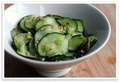 Wasabi Cucumber Sesame Salad via @amy