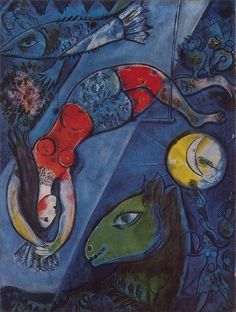 Illustration for the Book Marc Chagall. Cirque, Paris, 1967.