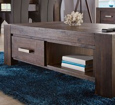 Generously-sized with two-way opening drawers, the Kingston coffee table is perfect for your lounge room Kingston, Dining Area, Entryway Tables, Drawers, Sweet Home, Lounge, Contemporary, Cabinet, Living Room