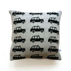 Ben's bed - 40cm Lambswool London Black Cab Cushion. £50.00, via Etsy.
