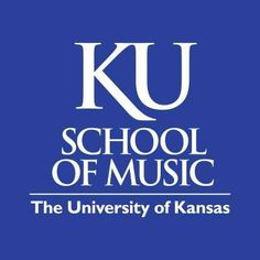 how one school of music designed their logo. use of what against blue make it stand out. no musical motifs
