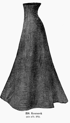 How to sew an edwardian corset skirt. Not that I can sew... But maybe one day it'll be useful, or I'll coerce someone into making one for me.