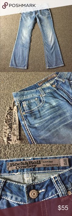 Rock & Roll Men's Jeans Rock & Roll Men's Jeans: Brand New With Tags.  Model: Pistol. Fit: Regular boot cut.  Style: Vintage.  Size 32 x 32.  Excellent jeans! Rock & Roll Jeans Bootcut