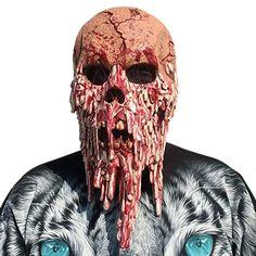 Enerhu Latexmaske Halloween Maske Horror Zombie Monster Dämon Totenkopf