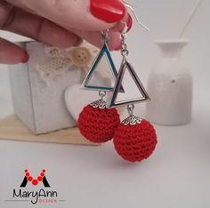 "A ""Szenvedély"" fülbevalója - MaryAnn Design Crochet Earrings, Jewelry, Design, Fashion, Moda, Jewlery, Jewerly, Fashion Styles, Schmuck"