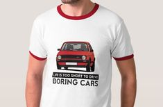 If you don't waste your life with boring cars and you're a fan of a German classic hot hatch from this is for you. Vw T, Volkswagen, Car Illustration, Mk1, Classic Cars, German, Golf, Prints, Mens Tops