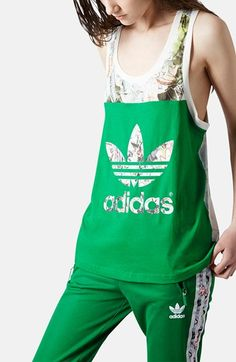 Topshop x adidas Originals Print Tank available at #Nordstrom