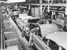 Vintage Chevrolet production lines