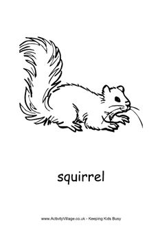 Printable Squirrel Coloring Pages | Coloring Me | embroidery ...