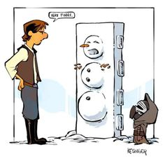 Lil' Kylo Makes A Snowman is listed (or ranked) 1 on the list This Guy Draws Star Wars Characters In Calvin And Hobbes Style, And It's Genuinely Heart-Warming