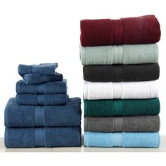 Enjoy spa-like pampering every single morning when you add this six-piece towel set to your master bathroom. Spun from ultra-soft, highly-absorbent Egyptian cotton, each towel has plush two-ply build, the towels can actually get fluffier after each wash.