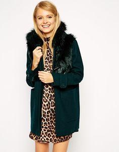 ASOS Faux Fur Fronted Duffle Coat