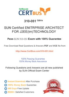 Candidate need to purchase the latest SUN 310-051 Dumps with latest SUN 310-051 Exam Questions. Here is a suggestion for you: Here you can find the latest SUN 310-051 New Questions in their SUN 310-051 PDF, SUN 310-051 VCE and SUN 310-051 braindumps. Their SUN 310-051 exam dumps are with the latest SUN 310-051 exam question. With SUN 310-051 pdf dumps, you will be successful. Highly recommend this SUN 310-051 Practice Test.