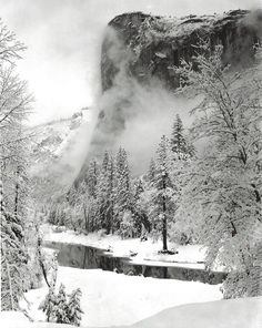 El Capitan, Winter, Yosemite national Park, California 1948 by Ansel Adams
