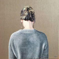 "Saatchi Art Artist Brigitte Yoshiko Pruchnow; Painting, ""Nape No. 01 (Vulnerable)"" #art"