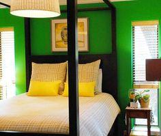 Green Yellow bedroom!