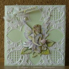 My first card made with a Creatables stencil