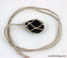 Tektite Hemp Wrapped Healing Crystal Necklace https://www.etsy.com/listing/251729604/