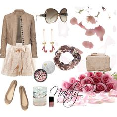 Lacey skirt outfit.