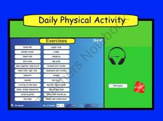 Daily Physical Activity for Smartboard  from Teaching The Smart Way on TeachersNotebook.com (1 page)