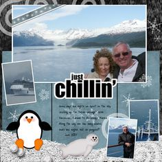 Carnival Cruise Scrapbook | carnival cruise page one - Digital Scrapbook Place Gallery