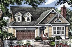 Eplans Cottage House Plan - Craftsman Cottage - 1472 Square Feet and 3 Bedrooms from Eplans - House Plan Code HWEPL09792