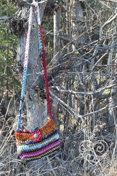 Darn Good Yarn - recycled chiffon sari ribbon purse