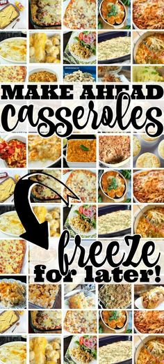 Awesome collection of casseroles perfect for busy nights. Freeze ahead so you don't have to worry about what's for dinner! This collection of Casserole Recipes is perfect for dinner meal planning baby-prep and any time you want to have a simple homema Crock Pot Recipes, Pastas Recipes, Cooking Recipes, Recipes Dinner, Chicken Recipes, Cooking Games, Potato Recipes, Soup Recipes, Dessert Recipes