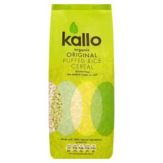 Kallo Organic Natural Puffed Rice Wholegrain Cereal 225 g (Pack of Puffed Rice Cereal, Coconut Water, Organic, Packaging, Amazon, Natural, Riding Habit, Wrapping, Nature