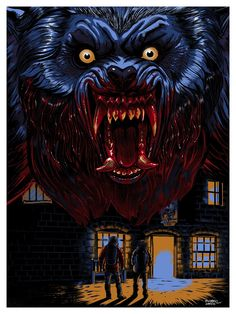 Kogaionon, Slaughtered Lamb (An American Werewolf in London). Retro Horror, Vintage Horror, Horror Posters, Horror Icons, Horror Films, American Werewolf In London, Werewolf Art, Horror Artwork, Vampires And Werewolves
