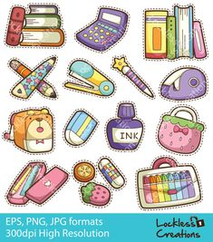 Hey, I found this really awesome Etsy listing at https://www.etsy.com/listing/162462279/colorful-stationery-1-digital-clip-art