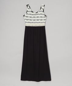 Love this Black Lace Maxi Dress - Girls by Btween on #zulily! #zulilyfinds