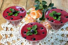 Blueberry mousse Dessert Recipes, Desserts, Mousse, Watermelon, Blueberry, Pudding, Fruit, Food, Tailgate Desserts