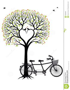Heart Tree With Birds And Bicycle, Vector - Download From Over 26 Million High Quality Stock Photos, Images, Vectors. Sign up for FREE today. Image: 33939505
