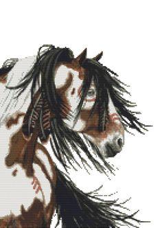Horse cross stitch kit 'Majestic Mustang 29' #GeckoRouge