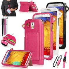 Luxury PU Leather Wallet Stand Case Cover For Samsung Galaxy Note 3 III N9000