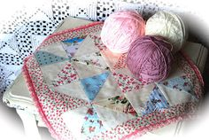 Mercedes's lovely small quilt - love the crocheted border!
