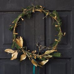 Our Snowdrop Wreath gets a few elegant embellishments.  Link in profile to shop.