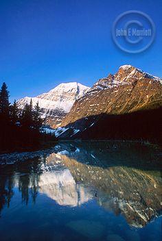 Edith Cavell Lake, one of Jasper Nationasl Park's most beautiful