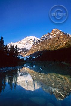 Edith Cavell Lake, one of Jasper Nationasl Park's most beautiful