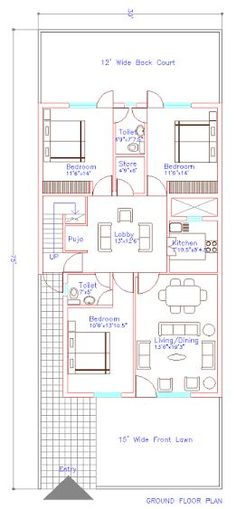 Image result for house plan 20 x 50 sq ft house plans 35x60 house plans