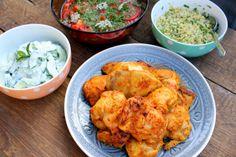 tandori csirke – Google Kereső Cauliflower, Curry, Chicken, Meat, Vegetables, Ethnic Recipes, Food, Cilantro, Curries